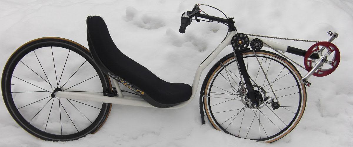 Custom FWD recumbent | English Cycles
