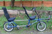 Jerome and Donna's packable recumbent tandem