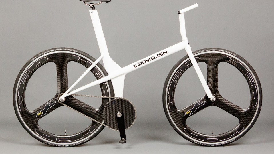 Obree tribute pursuit bike