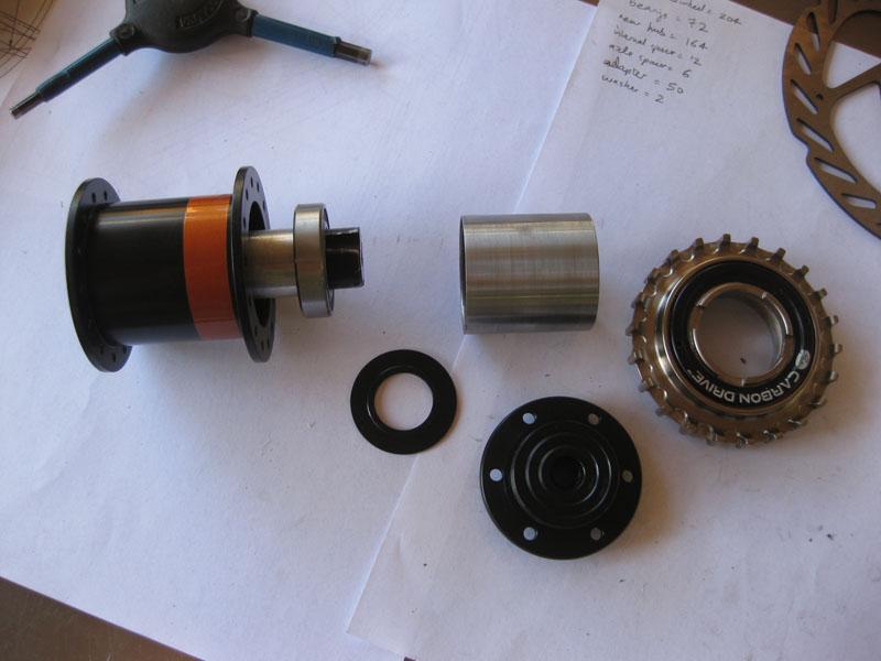 Rear hub assembly